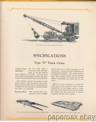 ca1920 Browning Truck Cranes Cleveland Advertising Brochure