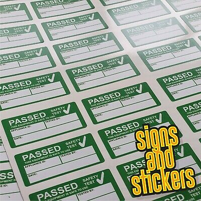 1000 PAT Test Pass stickers label passed, waterproof not cheap paper ones +