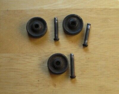 VINTAGE Set Of 3 SINGER CAST IRON TREADLE SEWING MACHINE WHEELS & AXLES ORIGINAL