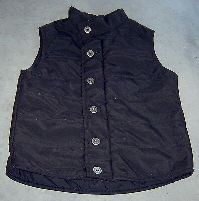 Fred Bare Boys Black Puffer Vest Sz 5