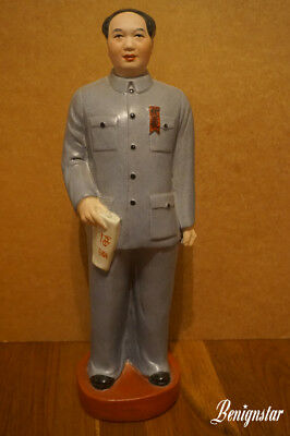 Chinese Chairman Mao Zedong Communist Porcelain Figurine Statue