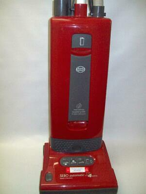 SEBO Upright Vacuum Cleaner X4 Automatic Red German Made Reliability warranty