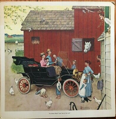 """VTG ORIGINAL NORMAN ROCKWELL/""""THE STREETS WAS NEVER THE SAME/"""" 20x20 ART PRINT"""