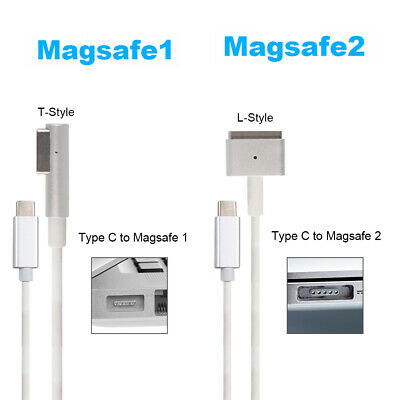 White USB Type C to Magsafe1/2 Charging Cable Line for MacBook Pro/Air Computer