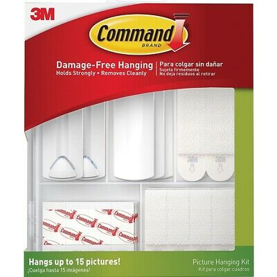 Command Picture Hanging Kit 3M 17213-ES Hangs Up To 15 Pictures Damage Free Hook