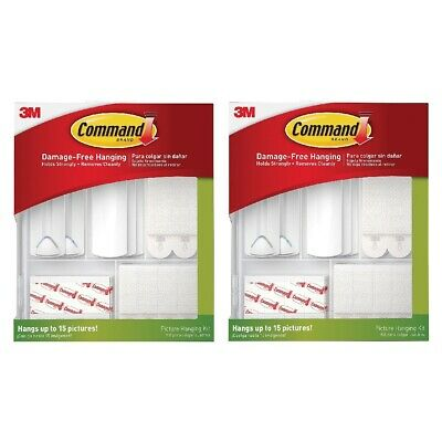 Command 17213-ES Picture Hanging Kit Hangs Up To 15 Pictures Damage Free, 2-Pack