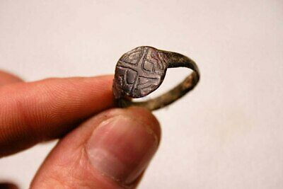 Ring with the sign of God Odin. Vikings of the VIII-XI centuries.