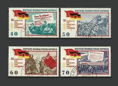 German DDR 1965 The 20th Anniversary of Liberation Stamps- VG/F-Used