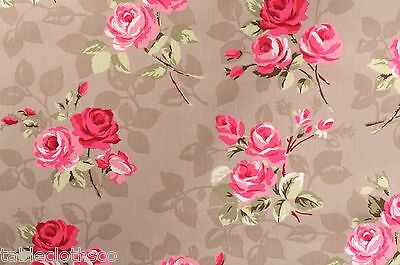 "1.83m//72/"" wipeable wipe clean pvc coated abc 123 pink  oilcloth TABLECLOTH CO"