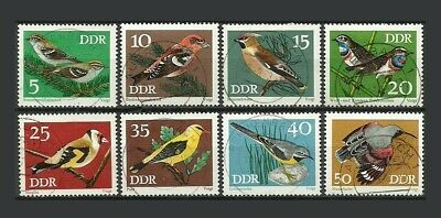 German DDR 1973 Protected Songbirds Stamps - VG/F - Used