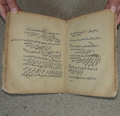 Old Ancient Book Afghanistan Muslim Islam Islamic Arabic Farsi Manuscript Quran