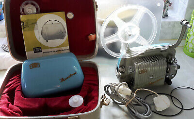 Vintage Zeiss Ikon Movilux 8 mm Film Projector with Case, Spools & Instructions
