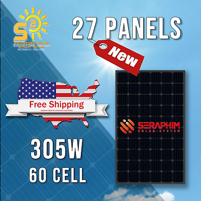 9.75kW 375W 72-cell Mono Solar Panel (pallet of 26) + String Grid-Tie Inverters