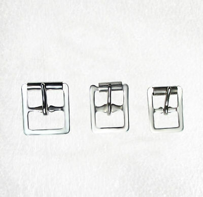 Silver Skate Buckles with roller 13mm, 16mm, 20mm pkt 8, or 12