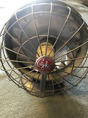 Antique vintage General Electric area fan heater Round working condition