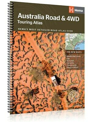 Australia Road & 4WD Touring Atlas Hema 12th Edition with 188 new maps
