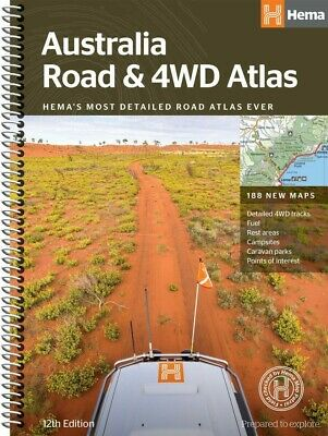 Australia Road & 4WD Atlas 12th edition with 188 new maps