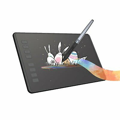 USED HUION Inspiroy H950P Graphics Drawing Tablet 8192 Battery Free Pen Tilt