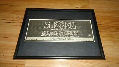 THE MISSION shades of green-framed original advert