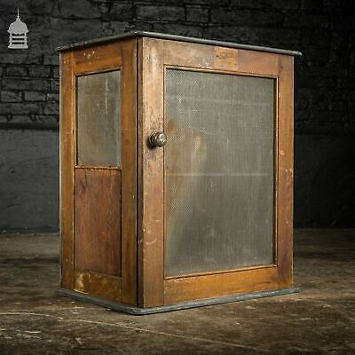19th C Slate and Teak Colstor Meat Safe by Goddard & Son
