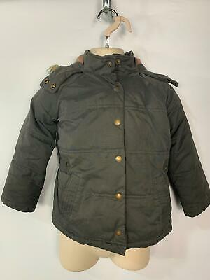 Girls Fat Face Dark Grey Winter Casual Padded Raincoat Jacket Kids Age 4/5 Years
