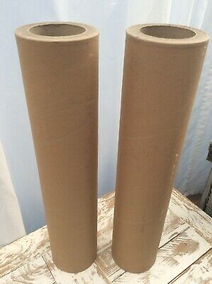 2 x Superior Heavy Duty Cardboard Tubes 20mm Thick 520mm Tall Arts & Crafts