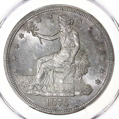 1876-S Trade T$1 PCGS Certified MS61 San Francisco Mint Silver Dollar Coin