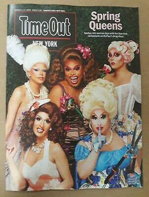 (2) Time Out New York Magazine Spring Queens RuPaul's Drag Race March 2020 Lot