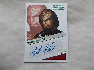 Quotable Star Trek TNG Autograph Card -Michael Dorn  as  Lt. Worf
