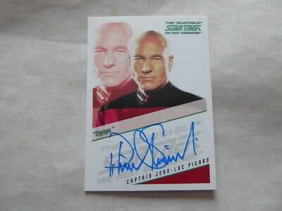 Quotable Star Trek TNG Autograph Card -Patrick  Stewart  as  John Luc Picard