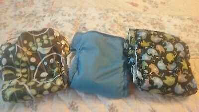 3 Blueberry Basix All In One Cloth Diapers