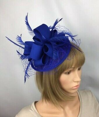 Royal Blue Fascinator Mother Of The Bride Occasion Wedding Races Ascot Hatinator