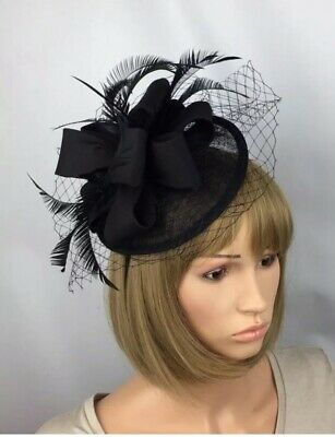 Black Fascinator Wedding Funeral Mother Of The Bride Ascot Races Occasion Hat