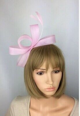 Light Pink Fascinator Wedding Occasion Hatinator Mother Of The Bride Races