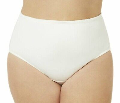 NEW Catherines Plus Size 15 White Microfiber Sexy Hi-Cut Brief Panty