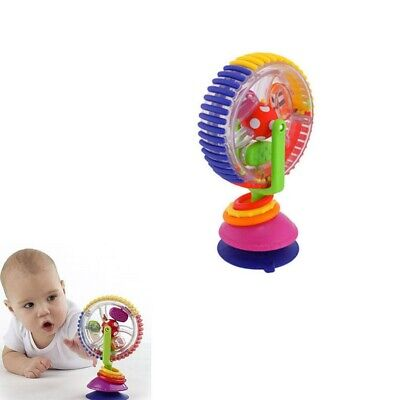 Sucker Wheel Rotating Ferris Rotating Windmill Toy Baby Infant Highchair Toy