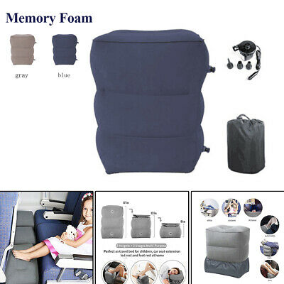 Portable Inflatable Footrest 3 Layers Foot Pillow Pad Travel Cushion Home Truck
