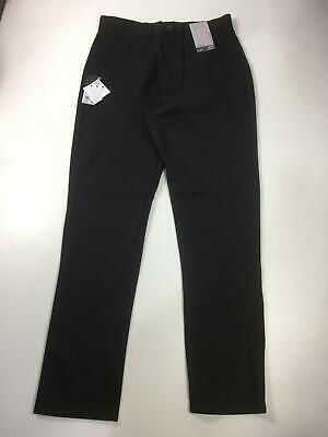 Bnwt Next Black Boys Slim Fit Chino Style School Trousers Formal Age 16 Rrp £13