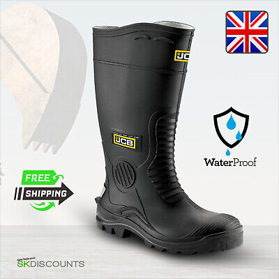 JCB HYDROMASTER Waterproof Shoes With Steel Midsole Wellington Safety Work Boots