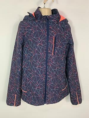 Girls Tu Blue Star Pattern Casual Soft Shell Hood Jacket Raincoat Kid Age 3 Year