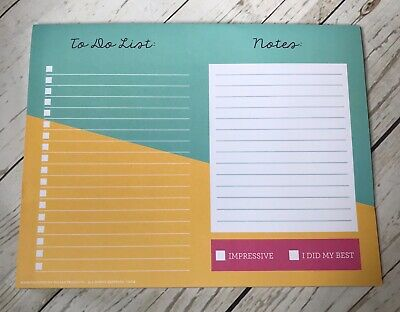 """*Daily Desk Planner Pad To Do List Check Off  Organizer 60 Pages 9.75"""" X 7.5"""""""