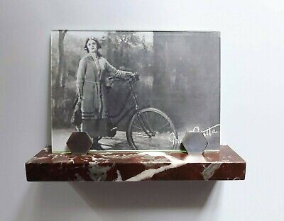 Pleasing ART DECO  marble and chrome photo frame period 1930's FRANCE