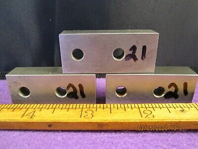 Precision Machinist Tools 3 Pc Unbranded Hardened Flat Bar Stock Tool Steel # 21