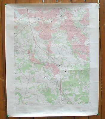 USGS Topographical Map Runnemeade NJ 27 X 22 1967 Edition