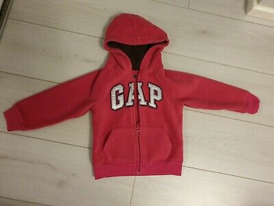 GAP girls zip up Hoodie Fleece Pink/fuchsia age 4 years