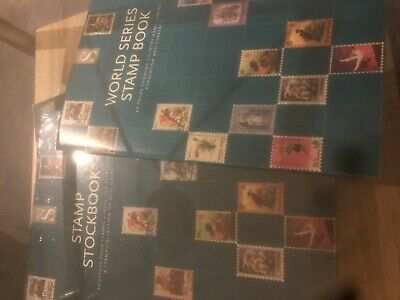 New sealed stockbook and 64 page World Series stamp album