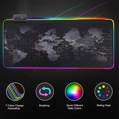 Computer Desk Mat Keyboard Large Backlight RGB Mouse Pad Mice Mat For PC Laptop