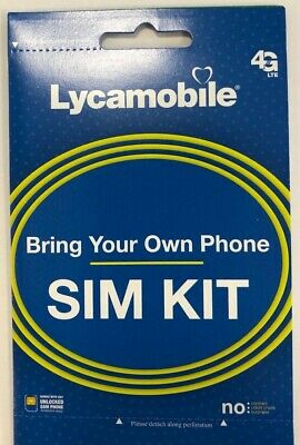 Lycamobile 1st Month Free Preload with 23$ Sim Card