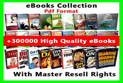 300000+ eBooks With Seller Rights, PLR Articles, Quotes + 950 Million Email List