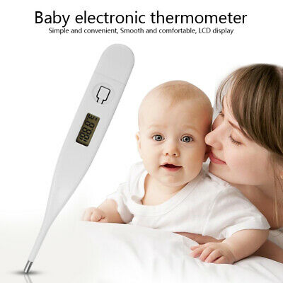 LCD-DIGITAL AUDIBLE THERMOMETER Temperature Fever Adults Kids Baby Oral Underarm